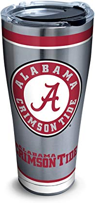 Tervis 1297295 NCAA Alabama Crimson Tide Tradition Stainless Steel Tumbler, 30 oz, Silver